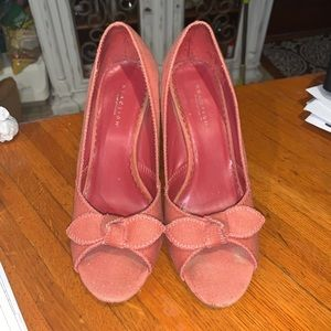 Kenneth Cole Reaction Coral Cork Wedges